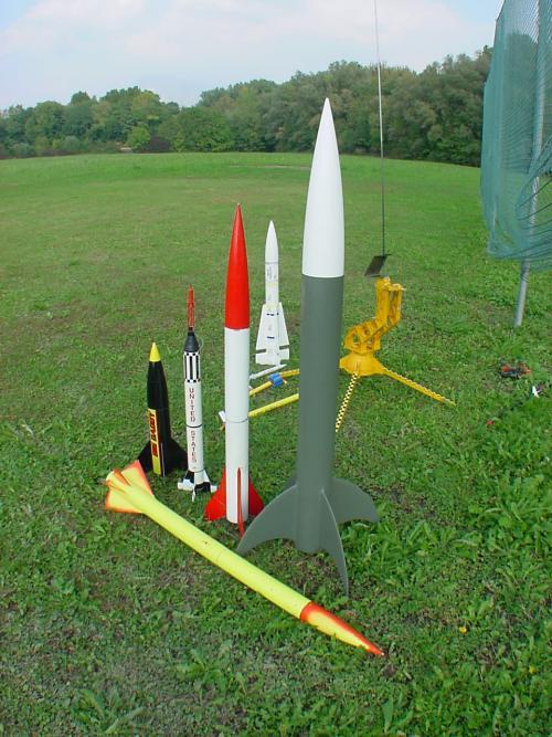 Modellraketen Modelle: verschiedene Raketenmodelle